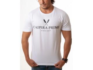 Camiseta Masculina  Caipira Prime Branca Classic