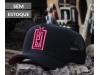 Boné Preto com Pink