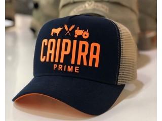 Boné  Caipira Prime First  Azul Marinho com Laranja